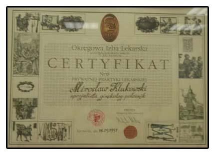 Certyfikat Jakości OIL Szczecin Nr 6
